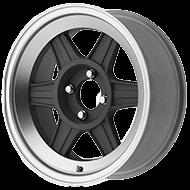 Motegi Racing Wheels MR124 Mag Grey with Machined Lip Wheels