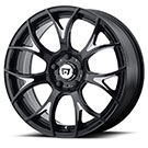 Motegi Racing Wheels<br /> MR126 Gloss Black with Milled Accents