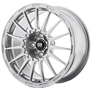 Motegi Racing Rally Cross S Silver with Clear Coat Wheels