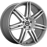 Motiv 414AB Modena Anthracite with Brushed Face Wheels