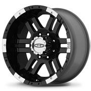 MOTO METAL Wheels <br>MO951 Gloss Black &amp; Machined