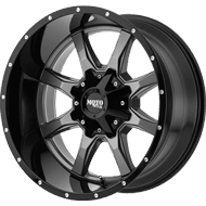 Moto Metal Wheels <br/> MO970 Gloss Grey Center w/ Gloss Black Lip