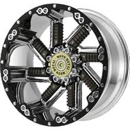 Moto Metal MO979 Chrome with Gun Metal Inserts Wheels