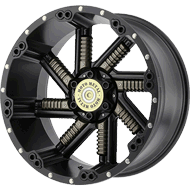 Moto Metal Wheels <br/> MO979 Satin Black w/ Gun Metal Inserts