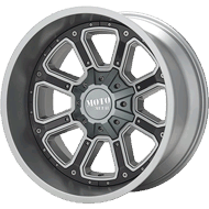 Moto Metal Wheels<br/> MO984 Matte Grey w/ Gloss Black Inserts