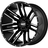 Moto Metal Wheels <br/> MO978 Razor Satin Black Machined