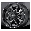 MOTO METAL Wheels <br>MO970 Semi Gloss Black