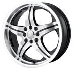 MPW Wheels <br/>MP107 Black Machined