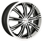 MPW Wheels <br/>MP108 Black Machined