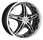 MPW Wheels <br/>MP109 Black Machined