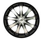 MPW Wheels <br/>MP110 Black Machined