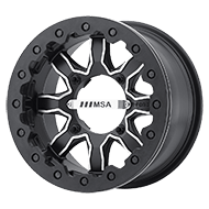 MSA Offroad Wheels <br/>F1 R-Forged Beadlock Machined Satin Black