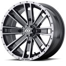 MSA Offroad Wheels M28 Ambush  Dark Silver Machined