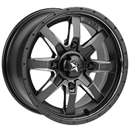 MSA Offroad Wheels <br/>Rocker Milled Flat Black