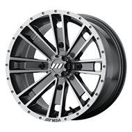 MSA Offroad Wheels <br/>M28 Ambush Machined Graphite