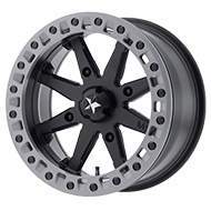 MSA Offroad Wheels <br/>Lok2 Satin Black W/ Matte Gray Ring