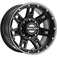 Mickey Thompson Wheels <br>368MB Sidebiter Lock Satin Black with Machined Accents