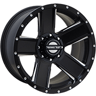 Mickey Thompson Wheels <br>367BM SD-5 Satin Black with CNC Milled Accents