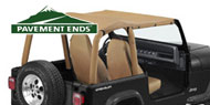 Pavement Ends Jeep Sun Cap Plus for Wrangler YJ