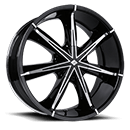 Black Ice Wheels <br /> Nexus Black w/ Chrome