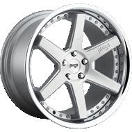 Niche Altair M193 Brushed Silver w/ Chrome Lip Wheels