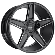 Niche Cannes M180 Black Milled Gloss Wheels