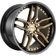 Niche Methos M195 Bronze w/ Gloss Black Lip Wheels