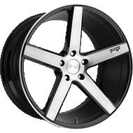 Niche Milan M124 Black Brush Gloss Wheels
