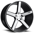 Niche Wheels Milan M124 <br/> Black Brush Gloss