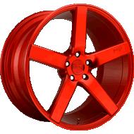 Niche Milan M187 Candy Red Wheels
