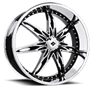 Black Ice Wheels <br /> Nocturno Black w/ Chrome