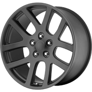 OE Creations PR107 Matte Black Wheels