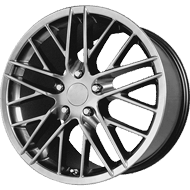 OE Creations PR121 Hyper Silver Dark Wheels
