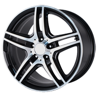 OE Creations PR136 Gloss Black Machined Wheels