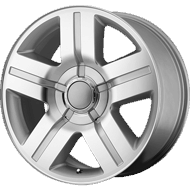 OE Creations PR147 Silver Machined Wheels