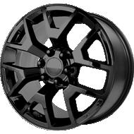 OE Creations PR150 Gloss Black w/ Clear Coat Wheels