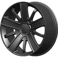 OE Creations PR153 Satin Black Wheels