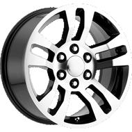 OE Performance 175BM Gloss Black / Machined Face Wheels