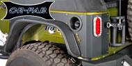 OR-FAB Jeep Quarter Armor with Led Light for 2007-2015 JK Wrangler 2-Door