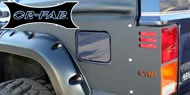 OR-FAB Jeep Quarter Side Armor Kit with Rail for 1984-2001 Cherokee XJ