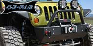 OR FAB Stubby Front Bumper w/ Hoop and Offset Winch Mount <br>2007-2015 Jeep JK