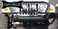 OR FAB Rock Slider Front Bumper <br>1987-1995 Jeep YJ