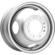 Pacer Wheels<br /> 179S Silver Dual Trailer Only