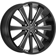 Platinum Wheels<br /> 270BM Pivot Gloss Black with CNC Milled Accents & Clear-Coat
