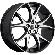 Platinum Wheels<br /> 419 Recluse Gloss Black with <br/>Diamond Cut Face