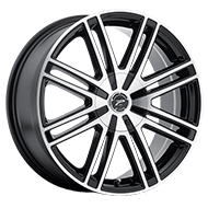 Platinum Wheels<br /> 434U Orion Gloss Black with Diamond Cut Face & Clear-Coat