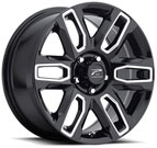Platinum Wheels<br /> 252 Allure Gloss Black <br/>with Milled Accents