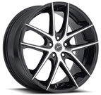 Platinum Wheels<br /> 412 Opulent Gloss Black <br>with Diamond Cut Face