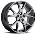 Platinum Wheels<br /> 419 Recluse Ultra V <br>Finish Black PVD