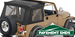 Pavement Ends Flip Top <br>76-95 Jeep CJ7 &amp; YJ